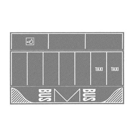 N60720 Car-Park Gray, 2 pcs 220 mm x 140 mm