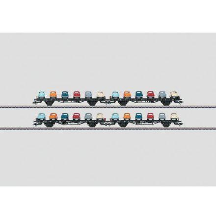 45098 Vagnsset med 4 flakvagnar