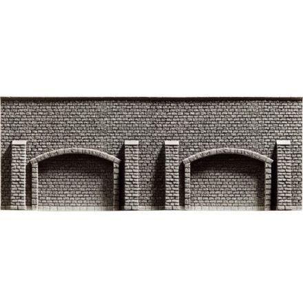 Arkadmurplatta grå 33,4x12,5cm
