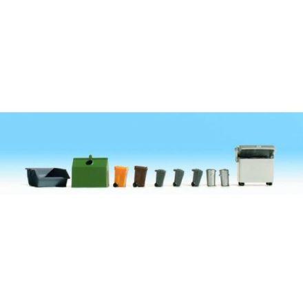 Container och soptunnor