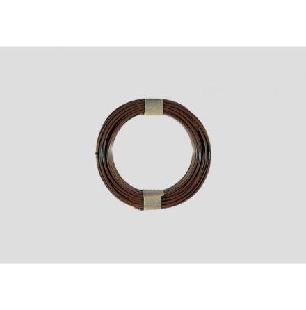 7102 Brun kabel 0,19mm² 10M