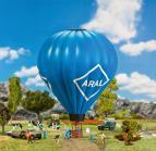 131001 Varmluftsballong med gaslåga