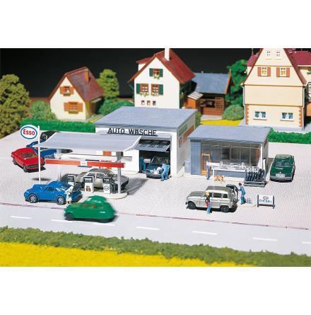 130296 Bensinstation med biltvätt